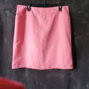 Peter Nygard coral lined skirt